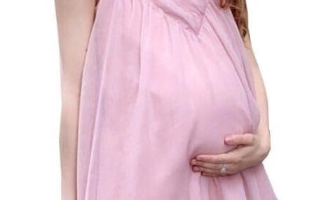 Lehoučké letní šaty pro těhotné