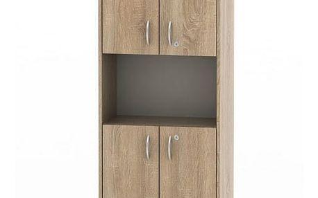 Kancelářská skříňka, dub sonoma, TEMPO AS NEW 003