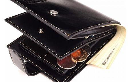 Pánská peněženka s prostorem na mince - 2 barvy