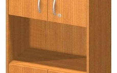 Kancelářská skříň, třešeň, TEMPO AS NEW 003