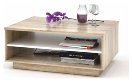 Konferenční stůl, dub sonoma / bílá, VAVRO NEW
