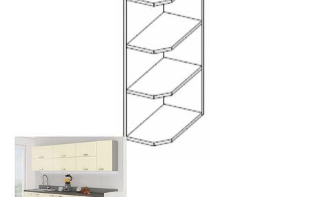 Kuchyňská skříňka rohová PRADO 30 G ZAK-72, krémový lesk