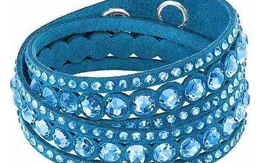 Vícevrstvý koženkový náramek s kamínky - více barev