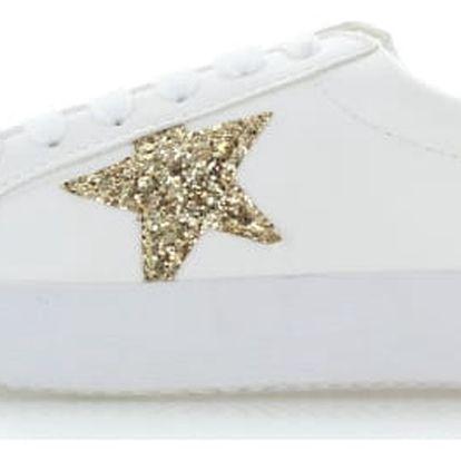 Bílo-zlaté tenisky Shiny Star