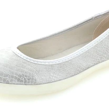 Dámské stříbrné balerínky Refresh 63539