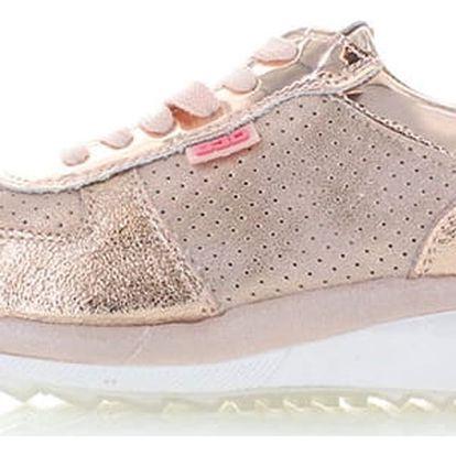 Dámské růžovo-zlaté platformové tenisky Bassed 41321