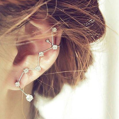 Třpytivá náušnice na jedno ucho ve tvaru souhvězdí