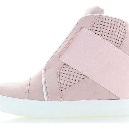 Světle růžové platformové tenisky Rafila