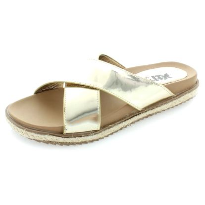 Dámské zlaté pantofle XTI 46598