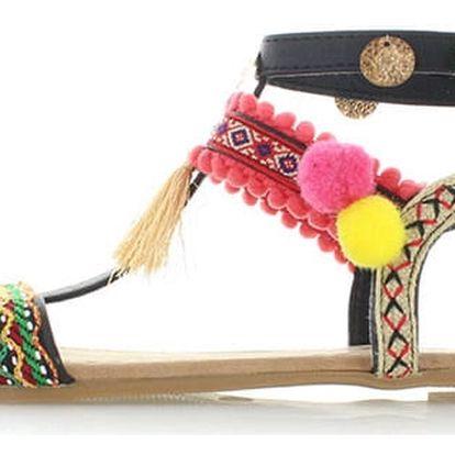 Dámské černé sandály Refresh 63364