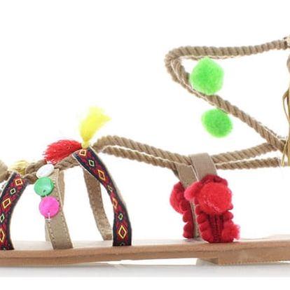 Dámské béžové sandály Refresh 63361