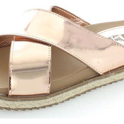 Dámské růžovo-zlaté pantofle XTI 46598
