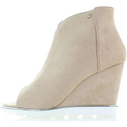 Béžové boty na platformě Blanka