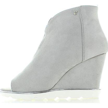 Světle šedé boty na platformě Blanka