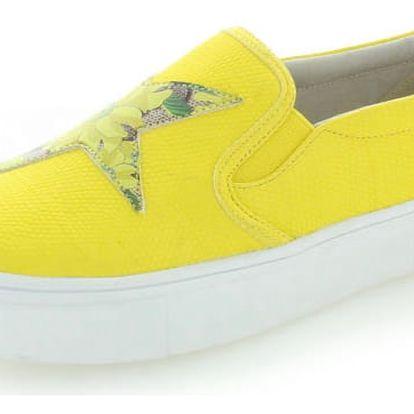 Žluté slip-on tenisky Rock Star