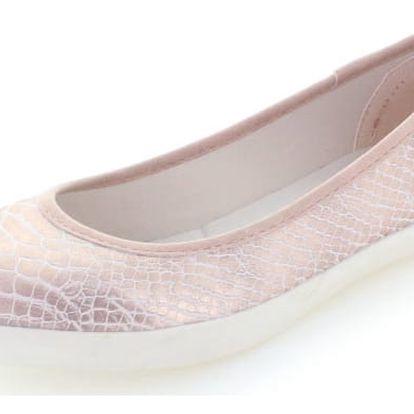 Dámské světle růžové balerínky Refresh 63539