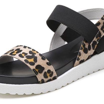 Letní sandálky s vyšší podrážkou - 4 barvy