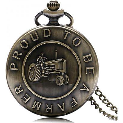 Vintage kapesní hodinky pro farmáře a zemědělce - dodání do 2 dnů