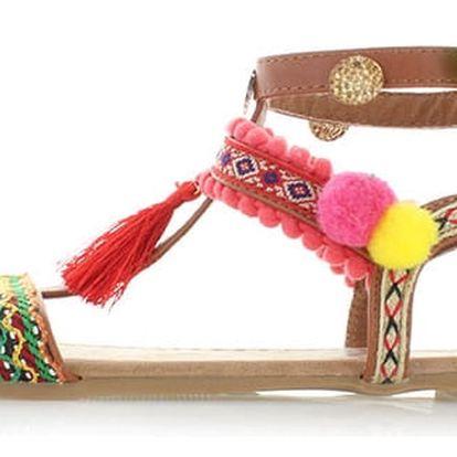 Dámské skořicové sandály Refresh 63364