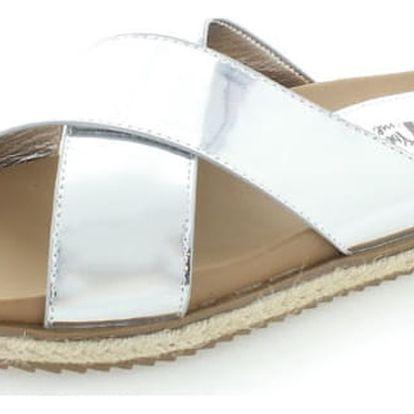 Dámské stříbrné pantofle XTI 46598