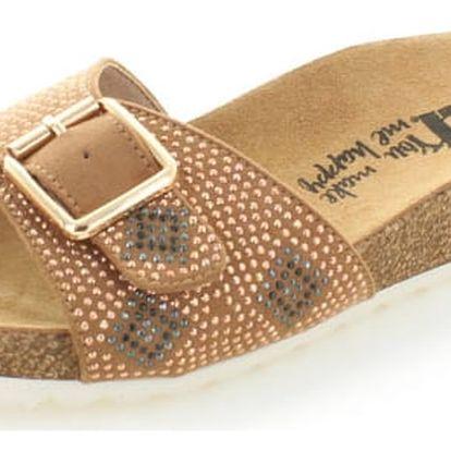 Dámské skořicové platformové pantofle XTI 46650