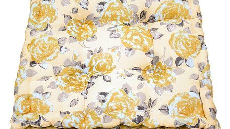 Žlutý zahradní polštář Ragged Rose Jess