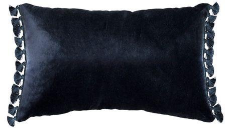 Černý polštář Ragged Rose Terry
