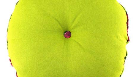 Limetkově zelený polštář Ragged Rose Rolly