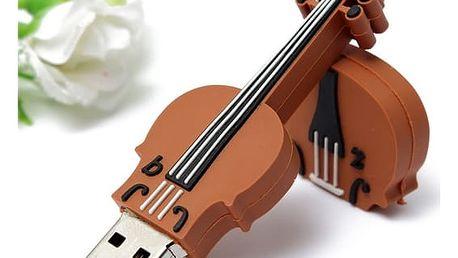 USB flash disk ve tvaru houslí - dodání do 2 dnů