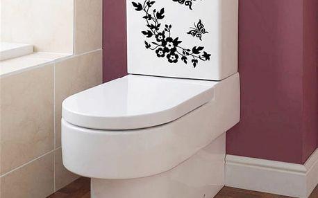 Samolepka na toaletu - motýlci a květiny