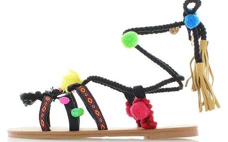 Dámské černé sandály Refresh 63361