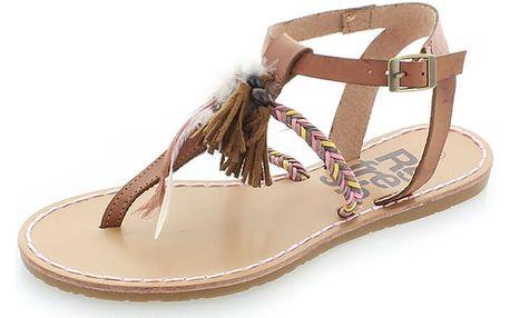 Dámské hnědé sandály Refresh 63363