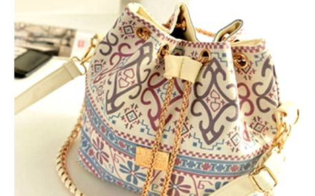 Módní vzorovaná plátěná taška přes rameno - dodání do 2 dnů