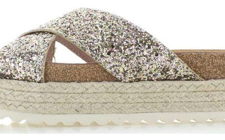 Dámské zlaté platformové pantofle Refresh 63326