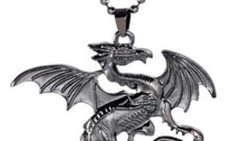Náhrdelník s přívěskem letícího draka