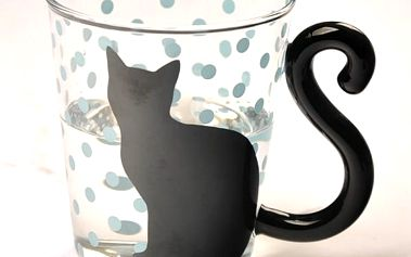 Skleněný hrneček s kočičkou - 4 varianty