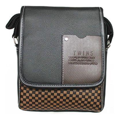 Pánská taška s kostičkovaným vzorem