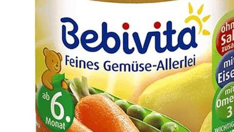 6x BEBIVITA Jemná zeleninová směs (190g) - zeleninový příkrm