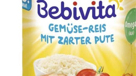 6x BEBIVITA Zelenina - rýže s krůtím masem (220g) - masozeleninový příkrm