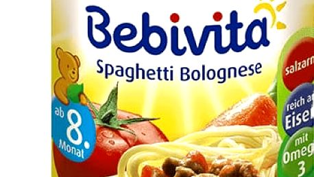 6x BEBIVITA Boloňské špagety (220g) - masozeleninový příkrm
