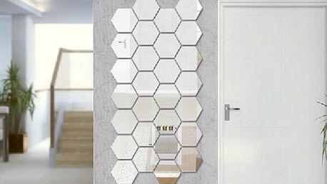 Sada šestihranných zrcadel - vlastní design - dodání do 2 dnů