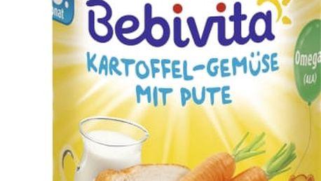 6x BEBIVITA Brambory-zelenina s krůtím masem (220g) - masozeleninový příkrm