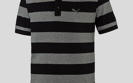Tričko Puma ESS Striped Pique Polo L Černá