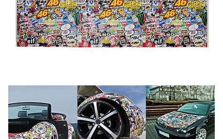 Auto samolepka v cartoon stylu - 50,8 x 152,4 cm