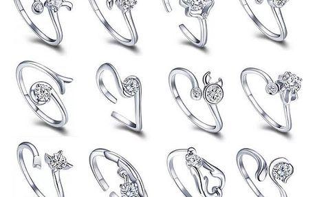 Prsten znamení zvěrokruhu s nastavitelnou velikostí