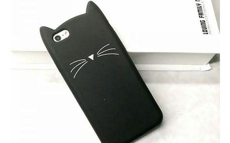 Kočičí kryt na iPhone 5, 5S, SE, 6, 6S, 6Plus, 7, 7Plus