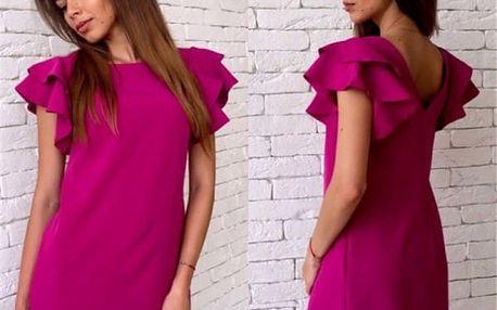 Krátké šaty s originálním střihem