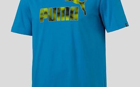 Tričko Puma Hero Tee M Modrá