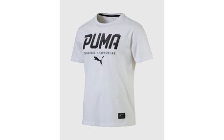 Tričko Puma STYLE Tec Graphic Tee L Bílá