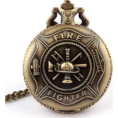 Vintage kapesní hodinky pro hasiče - dodání do 2 dnů